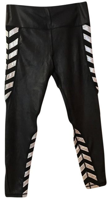 Item - Black and Silver Activewear Bottoms Size 12 (L, 32, 33)