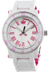 Juicy Couture Juicy Couture Women's HRH White and Pink Plastic Bracelet Watch
