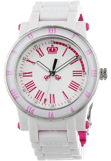 Preload https://img-static.tradesy.com/item/21707871/juicy-couture-white-women-s-hrh-and-pink-plastic-bracelet-watch-0-1-540-540.jpg