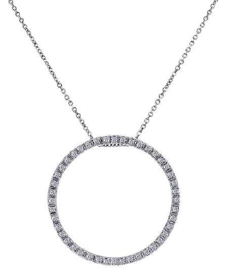 Preload https://img-static.tradesy.com/item/21707905/avital-and-co-jewelry-14k-white-gold-045-carat-diamond-bright-sparkling-eternity-pendant-necklace-0-1-540-540.jpg
