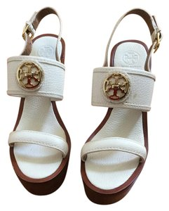 Tory Burch Leather Off White Wedges