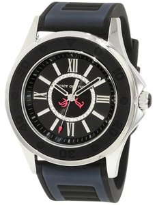 Juicy Couture Juicy Couture Women's Rich Girl Black Jelly Strap Watch