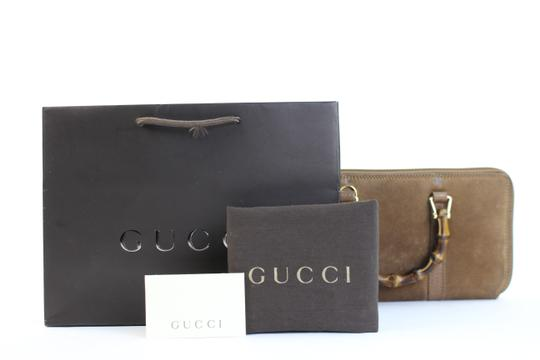 Gucci Bamboo Handle Zip Wallet Clutch 2GGTY71017
