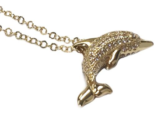 Other 18 inches 14 K Yellow Gold Dolphin Pendant Necklace