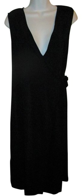 Preload https://img-static.tradesy.com/item/21708133/talbots-black-faux-sueded-wrap-long-workoffice-dress-size-4-s-0-1-650-650.jpg