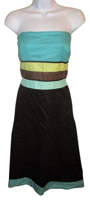 Preload https://img-static.tradesy.com/item/21708203/ann-taylor-loft-brownturquoise-turquoisebrown-strapless-short-workoffice-dress-size-14-l-0-1-650-650.jpg