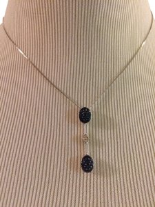 14KWG Diamonds And Sapphire Necklace