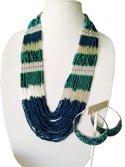 Preload https://img-static.tradesy.com/item/2170825/shades-of-blue-2-piece-set-ocean-seedbead-multi-strand-necklace-and-earrings-0-0-540-540.jpg