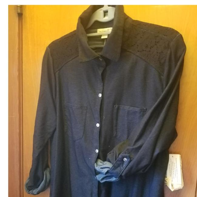One World Button Down Shirt Dark Indigo