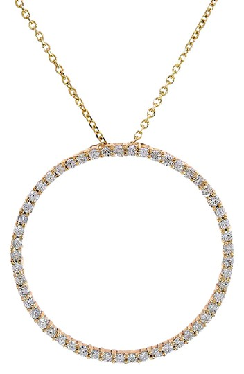Preload https://img-static.tradesy.com/item/21708308/avital-and-co-jewelry-14k-yellow-gold-065-carat-diamond-classic-round-eternity-pendant-necklace-0-1-540-540.jpg