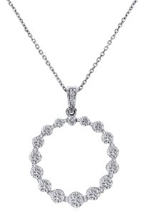 Avital & Co Jewelry 1.50 Carat Diamond Round Shine Eternity Pendant 14K White Gold