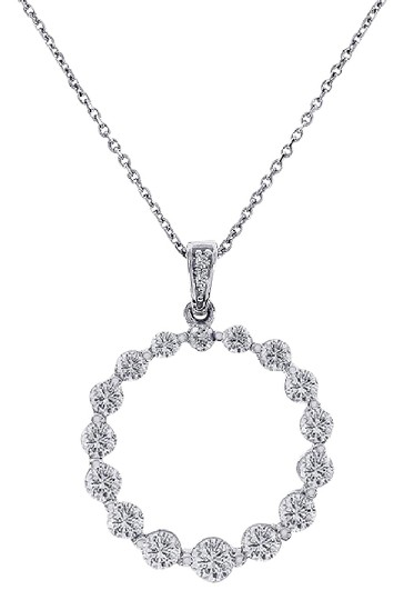 Preload https://img-static.tradesy.com/item/21708357/avital-and-co-jewelry-14k-white-gold-150-carat-diamond-round-shine-eternity-pendant-necklace-0-1-540-540.jpg