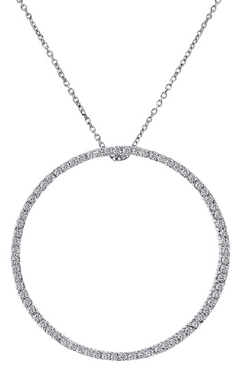 Preload https://img-static.tradesy.com/item/21708438/avital-and-co-jewelry-14k-white-gold-075-carat-diamond-classic-eternity-pendant-necklace-0-1-540-540.jpg