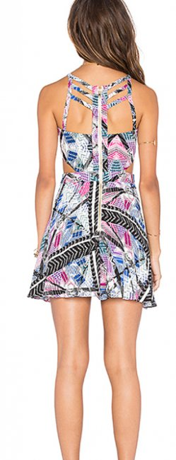 Naven short dress Tribal Cocktail Cut-out X on Tradesy