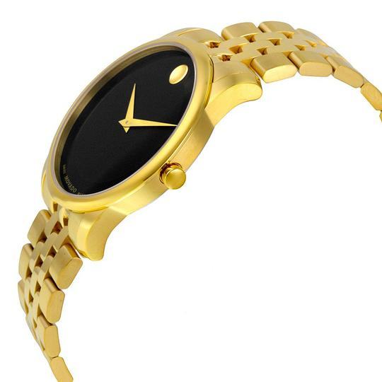 Movado Museum Classic Men's Watch Black Dial Stainless Steel Yellow PVD