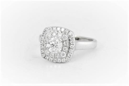 White Gold 14k Double Halo (1.0 Cttw) Engagement Ring