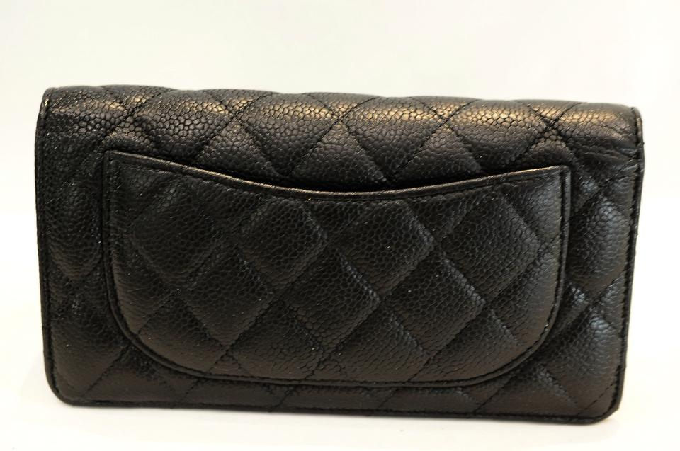 187b7f208e51 Chanel Quilted Bi-fold Wallet In Caviar Black | Stanford Center for ...