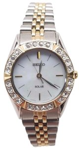 Seiko SEIKO DRESS SOLAR MOP TWO-TONE WOMEN'S WATCH SUP094