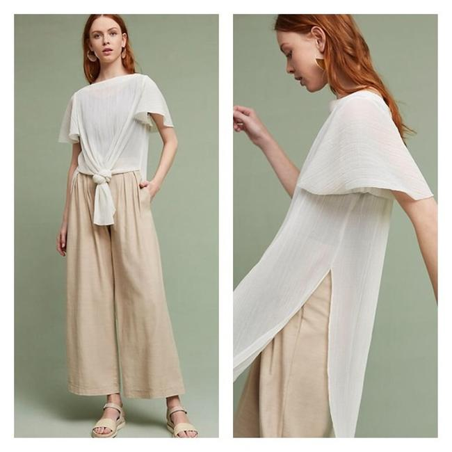 Preload https://img-static.tradesy.com/item/21708684/anthropologie-white-breezy-knotted-tunic-size-petite-6-s-0-0-650-650.jpg