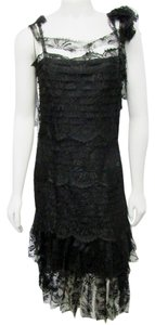 Chanel Lace Scalloped Overlay Tiered Dress