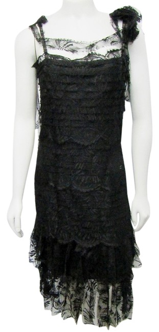 Preload https://img-static.tradesy.com/item/21708698/chanel-black-2006-38-lace-overlay-tiered-scalloped-mid-length-formal-dress-size-6-s-0-1-650-650.jpg