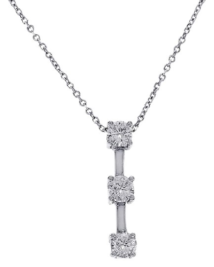 Preload https://img-static.tradesy.com/item/21708752/avital-and-co-jewelry-14k-white-gold-088-carat-diamond-three-stone-drop-necklace-0-1-540-540.jpg