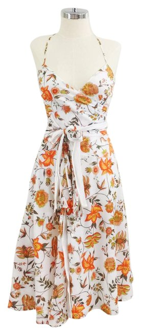 Preload https://img-static.tradesy.com/item/21708771/mason-by-michelle-mason-white-orange-floral-cotton-wrap-retro-mid-length-short-casual-dress-size-2-x-0-1-650-650.jpg