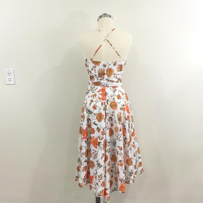 Mason by Michelle Mason short dress white orange Floral Wrap Cotton Retro on Tradesy