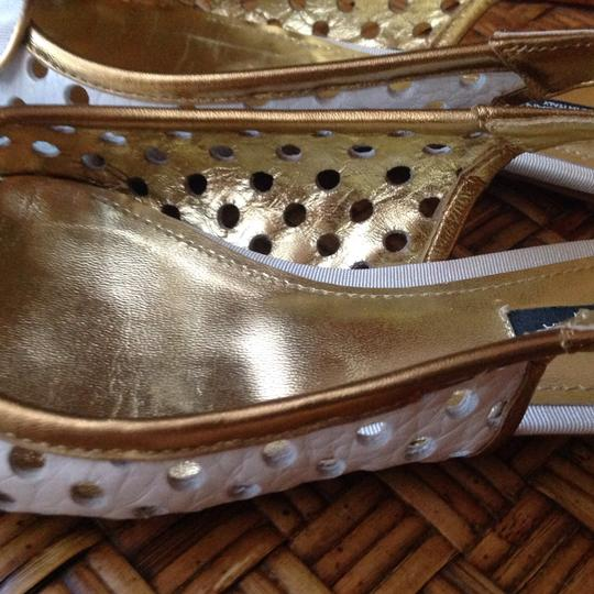 Dolce&Gabbana white and gold Flats