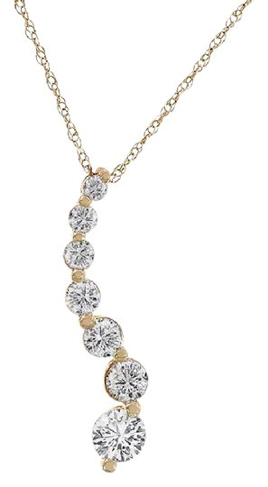 Preload https://img-static.tradesy.com/item/21708872/avital-and-co-jewelry-14k-yellow-gold-125-carat-diamond-7-stones-journey-pendant-necklace-0-1-540-540.jpg
