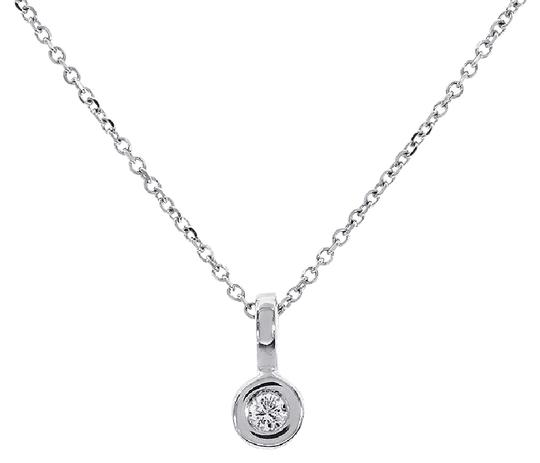 Preload https://img-static.tradesy.com/item/21709021/avital-and-co-jewelry-14k-white-gold-010-carat-round-cut-pendant-with-chain-necklace-0-1-540-540.jpg
