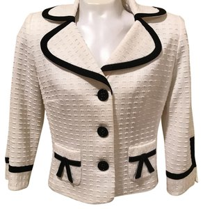 Kay Unger Jacket Tailored Top white, Black