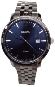 Seiko Seiko Mens SUR117 Quartz Stainless-Steel Analog Blue Dial Watch