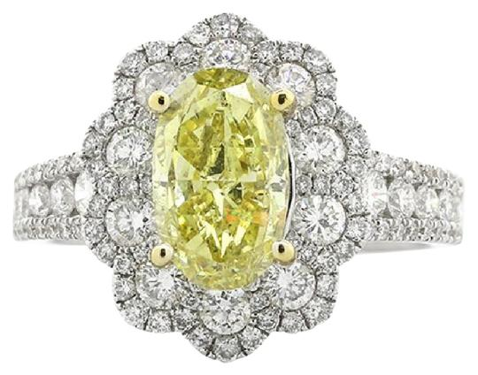 Preload https://img-static.tradesy.com/item/21709086/f-332-cts-oval-cut-yellow-flower-shape-halo-set-in-18k-w-engagement-ring-0-1-540-540.jpg