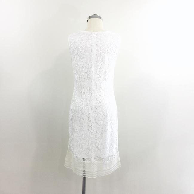 Elie Tahari short dress White/Ivory Cream Lace Sheath Lace Trim on Tradesy