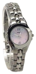 Seiko Seiko Quartz Ladies Pink Mop Dial Stainless Steel Mini Dress Watch SX