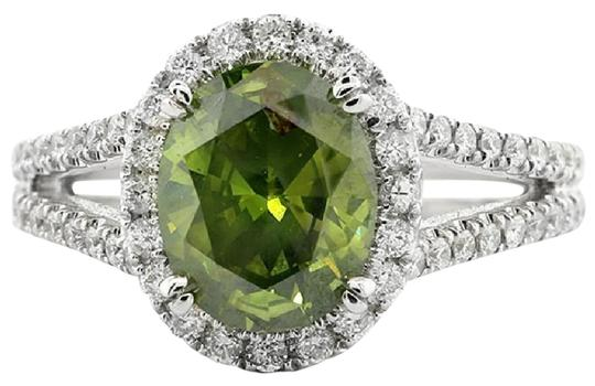 Preload https://img-static.tradesy.com/item/21709214/green-272-cts-oval-with-halo-set-in-18k-white-engagement-ring-0-1-540-540.jpg