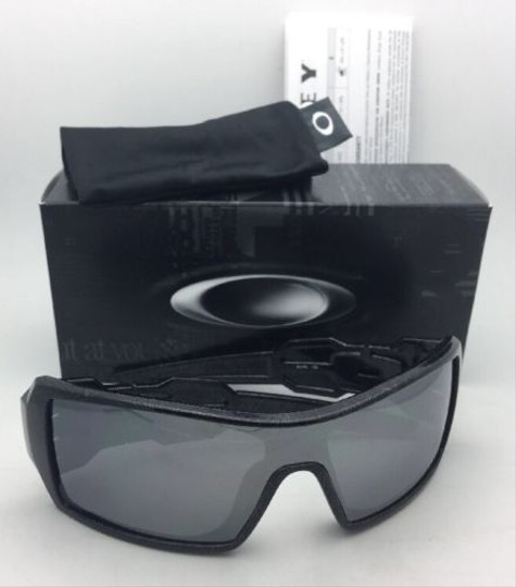 Oakley Oakley Sunglasses OIL RIG OO9081 24-058 Black-Silver Ghost Text Shield