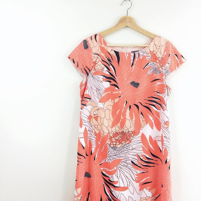 Vince Camuto short dress coral Dahlia Floral Shift on Tradesy