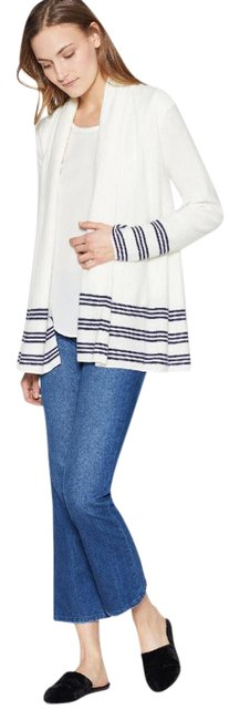 Preload https://img-static.tradesy.com/item/21709597/joie-open-front-white-and-navy-sweater-0-1-650-650.jpg