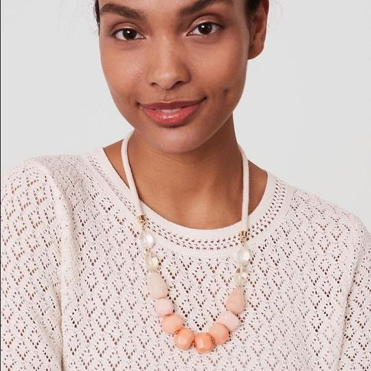 Ann Taylor LOFT NWT Pastel Ombre Bead Rope Necklace