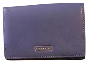 Coach Small Foldover Leather Wallet