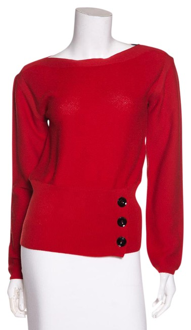 Preload https://img-static.tradesy.com/item/21709983/lemaire-red-knit-sweaterpullover-size-2-xs-0-1-650-650.jpg