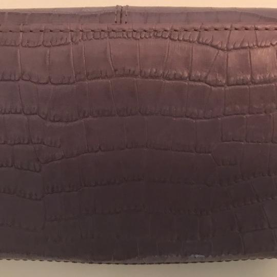 Coach RARE Coach Ashley Lavender Croc Embossed Leather Wallet (Style # 46328