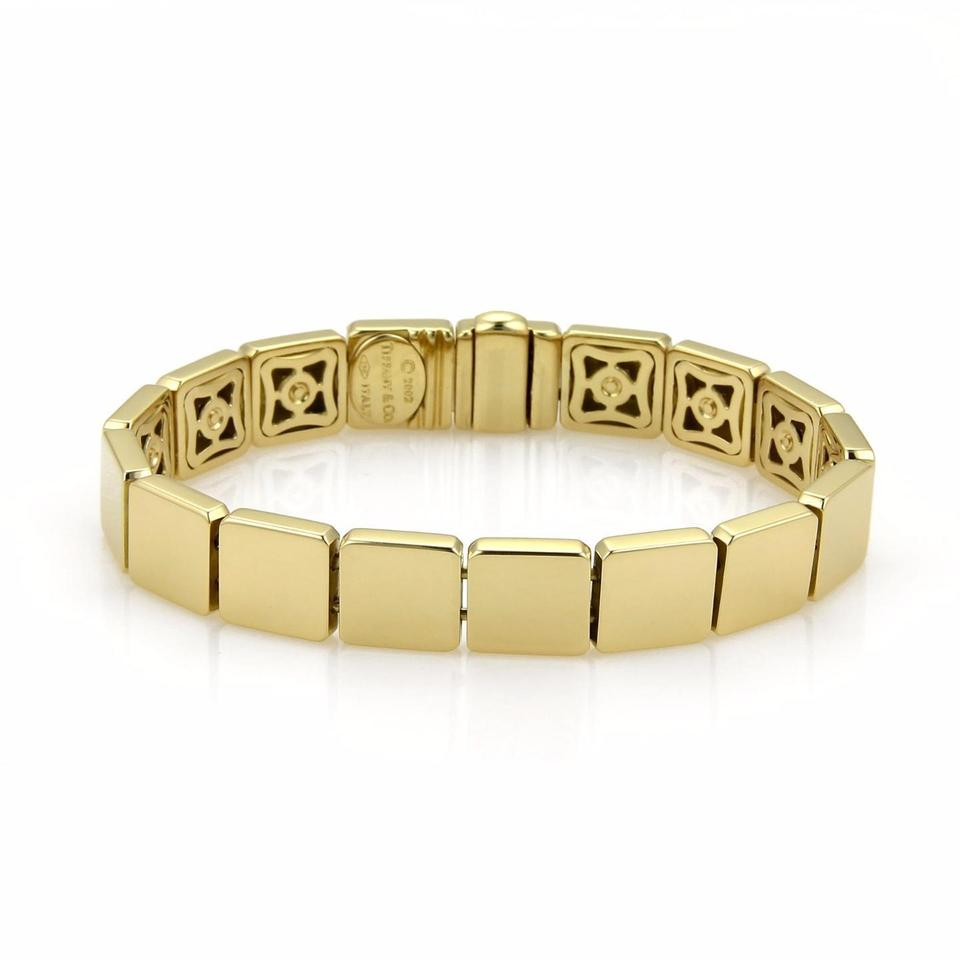 a81f571a5856b Tiffany & Co. Yellow Gold Full Square Link 2002 Bracelet