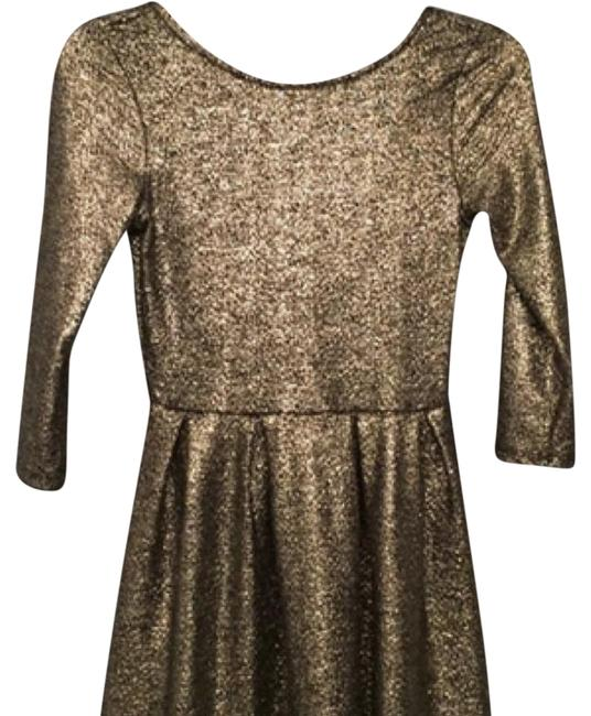 Preload https://img-static.tradesy.com/item/21710183/one-clothing-gold-fit-and-flare-short-cocktail-dress-size-0-xs-0-1-650-650.jpg