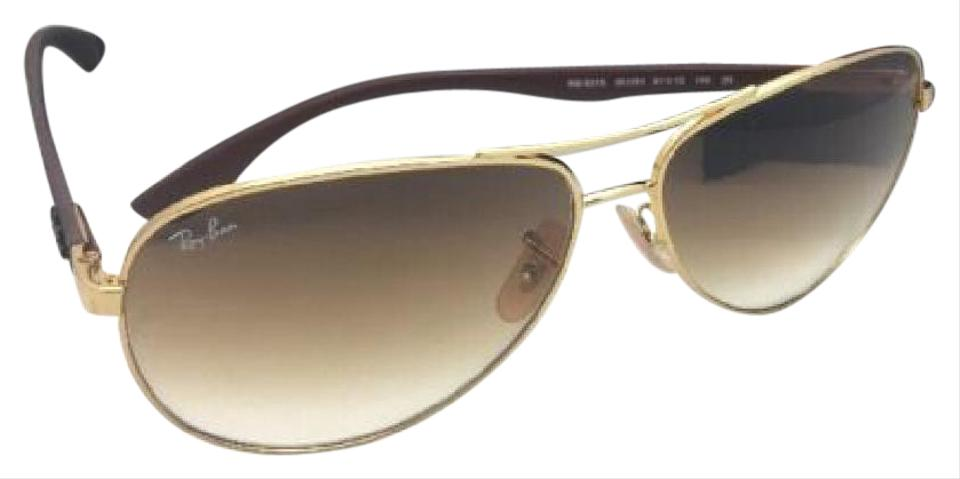 d4e6ed1e89a86 Ray-Ban Tech Series Rb 8313 001 51 Gold-carbon Fiber Aviator W ...