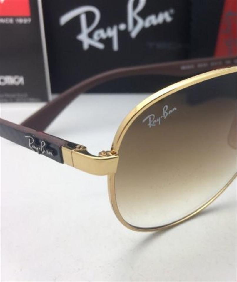 a24c242539a41 Ray-Ban Tech Series Rb 8313 001 51 Gold-carbon Fiber Aviator W  Brown 001 51  W Fade Sunglasses - Tradesy