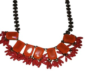 J.Crew Fringed neon necklace