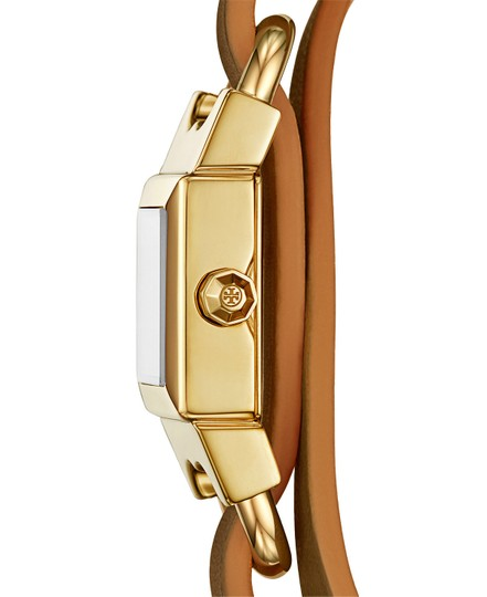 Tory Burch NEW Tory Burch Double T Link Leather Reversible Gold Watch Bracelet